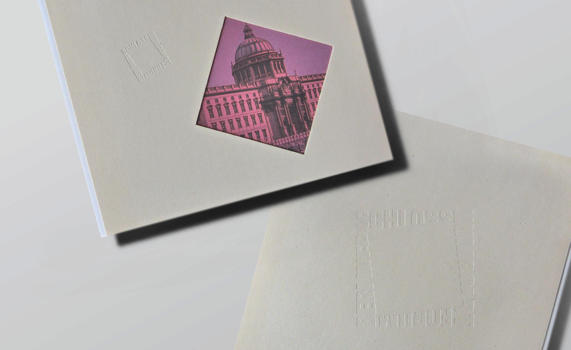 Berliner Schloss / Umschlag mit Stanze