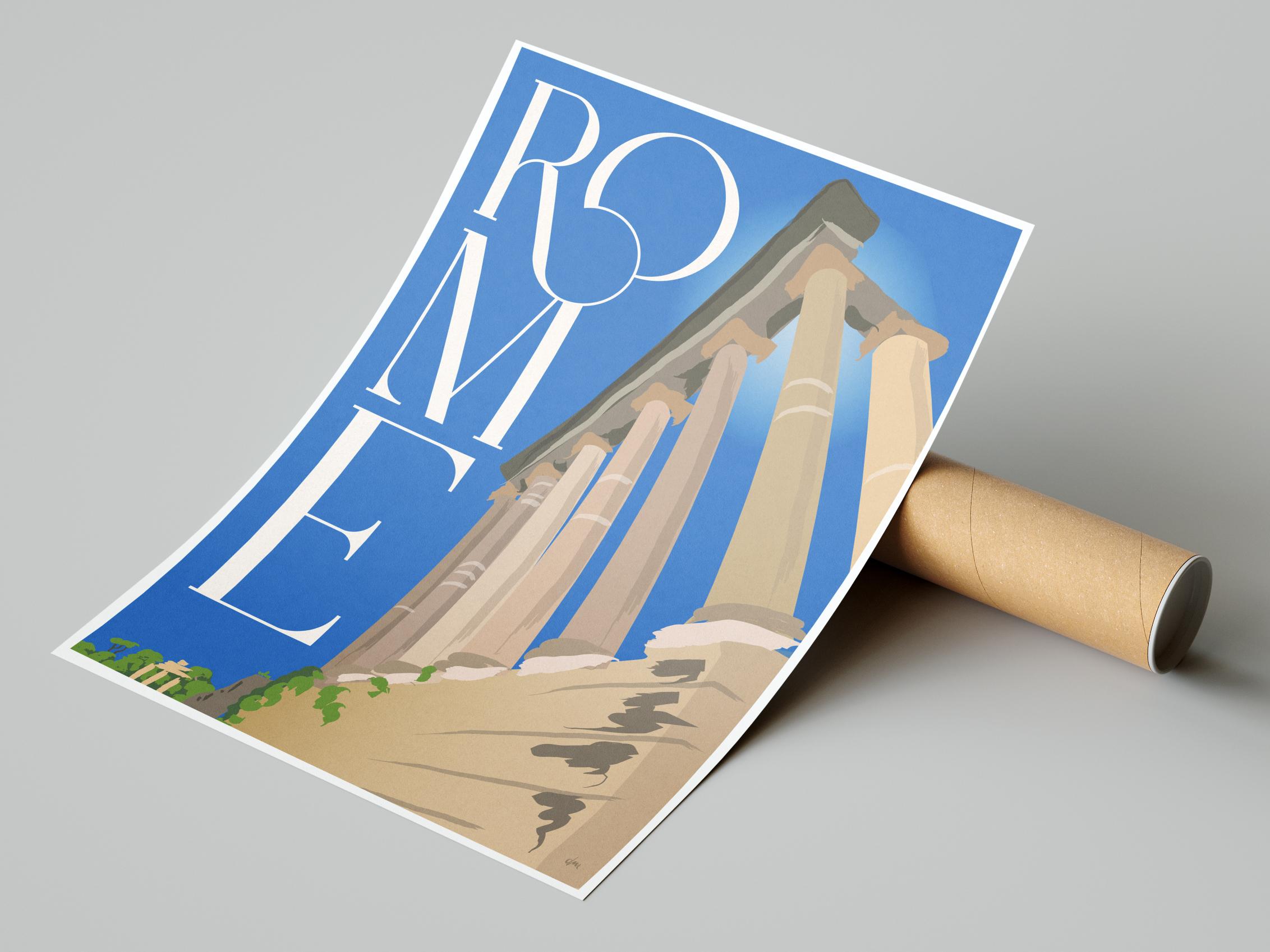 Reiseplakat Rom