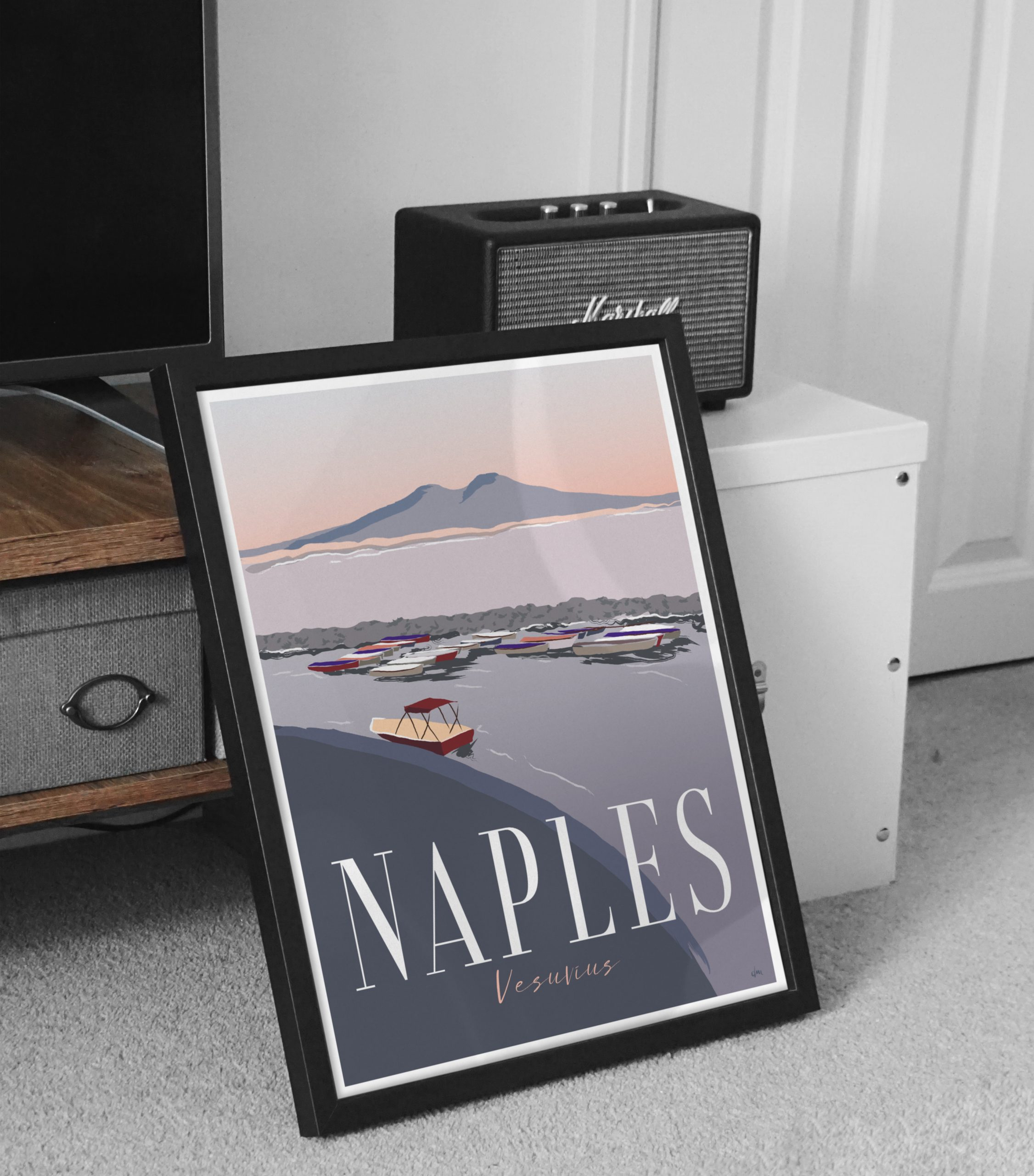 Reiseplakat Neapel