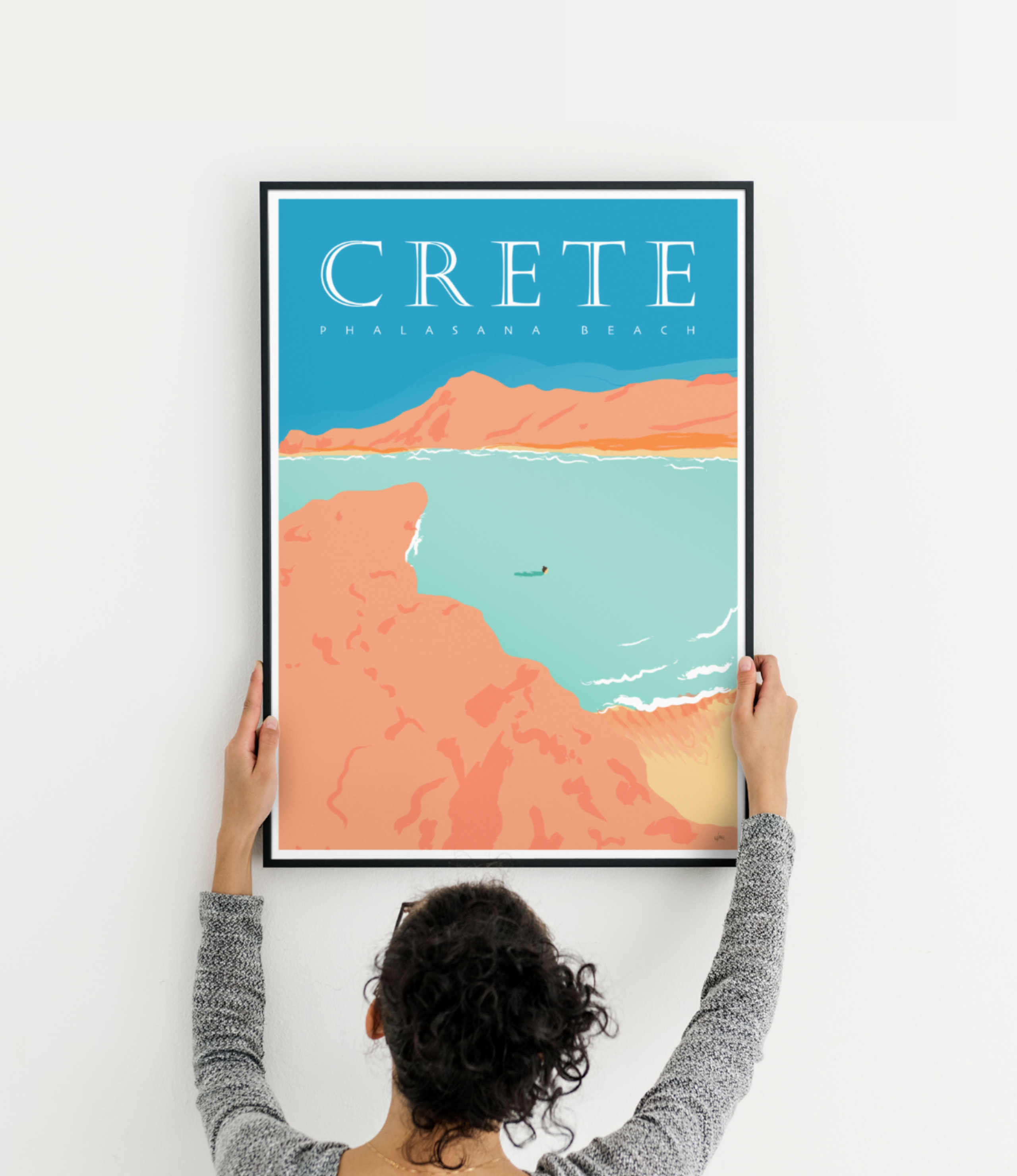 Reiseplakat Kreta