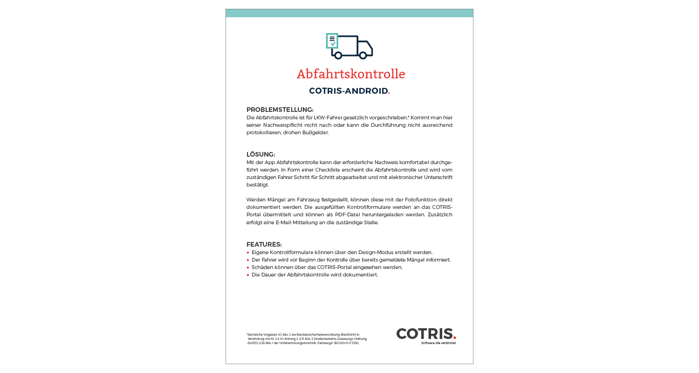 Cotris Produktportfolio Innenseite