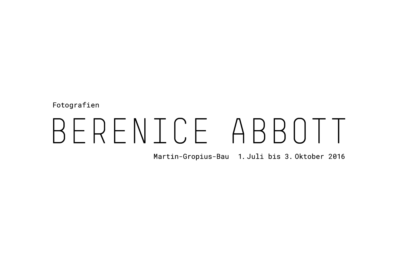 Berenice Abbott-Fotografien / Ausstellungstitel