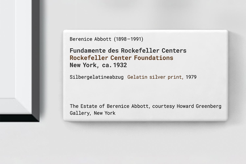 Berenice Abbott-Fotografien / Objektbeschriftung