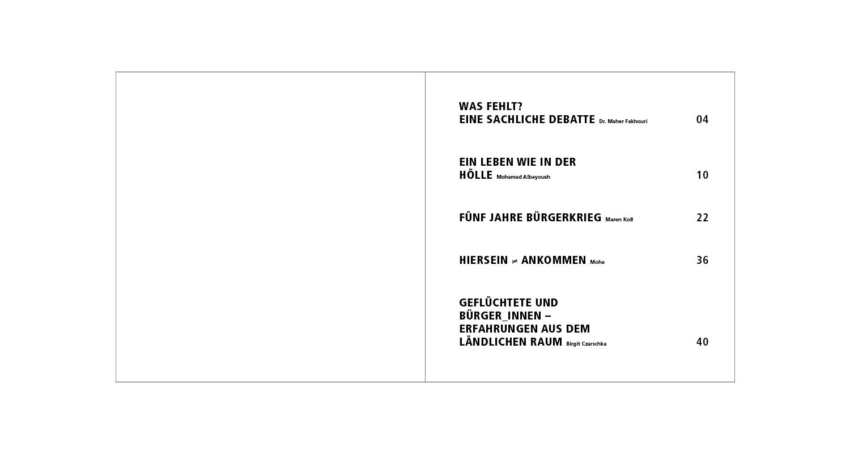 FES Broschüre / Inhalt