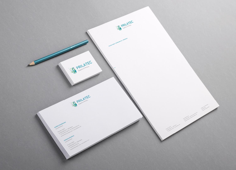 Prilatec Branding / Ausstattung