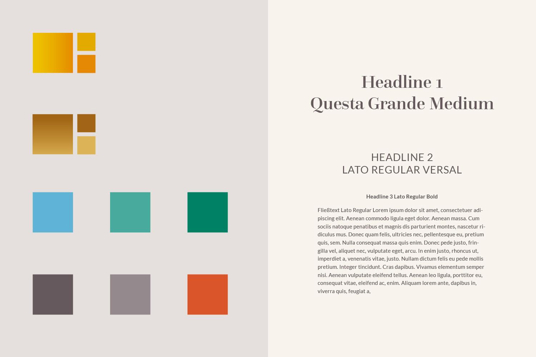 Torgau Styleguide / Farben und Typografie