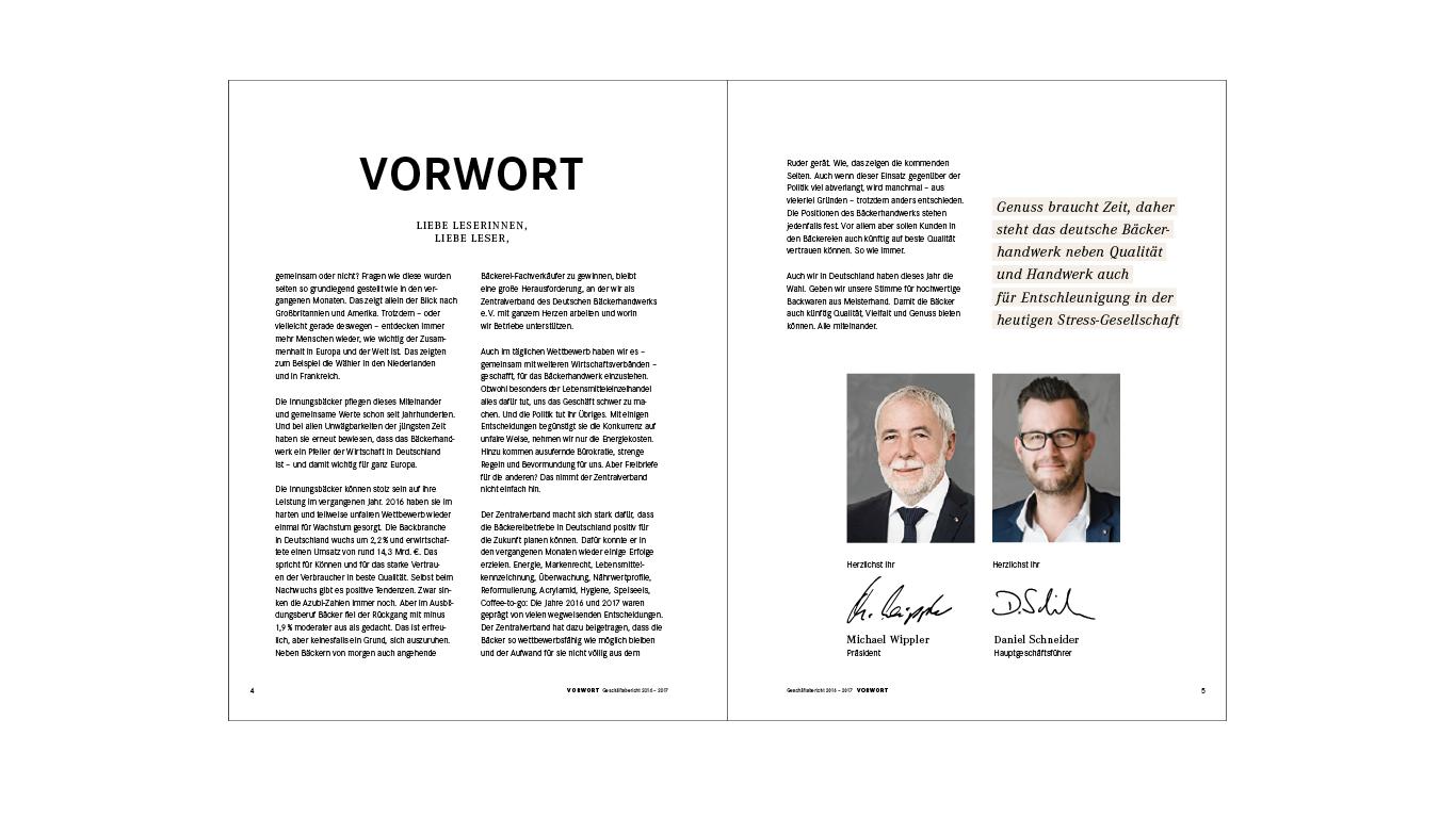 Bäcker GB 2017 / Vorwort