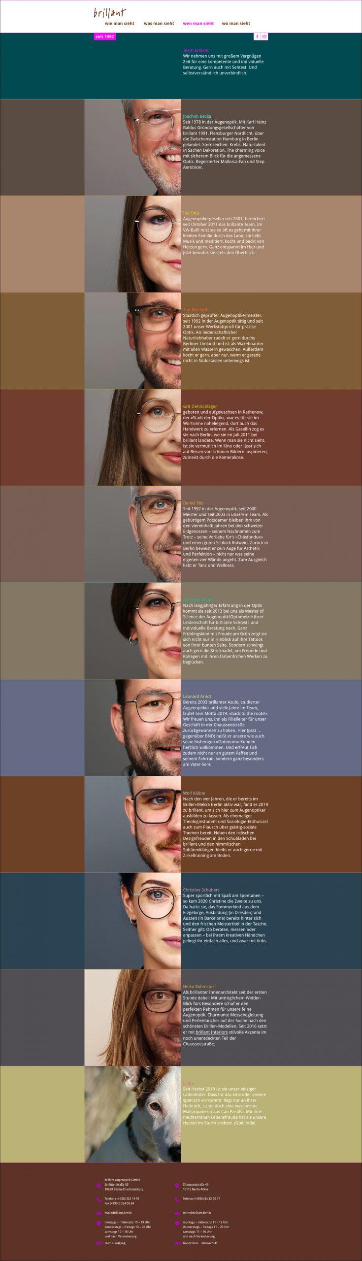 brillant Augenoptik Team