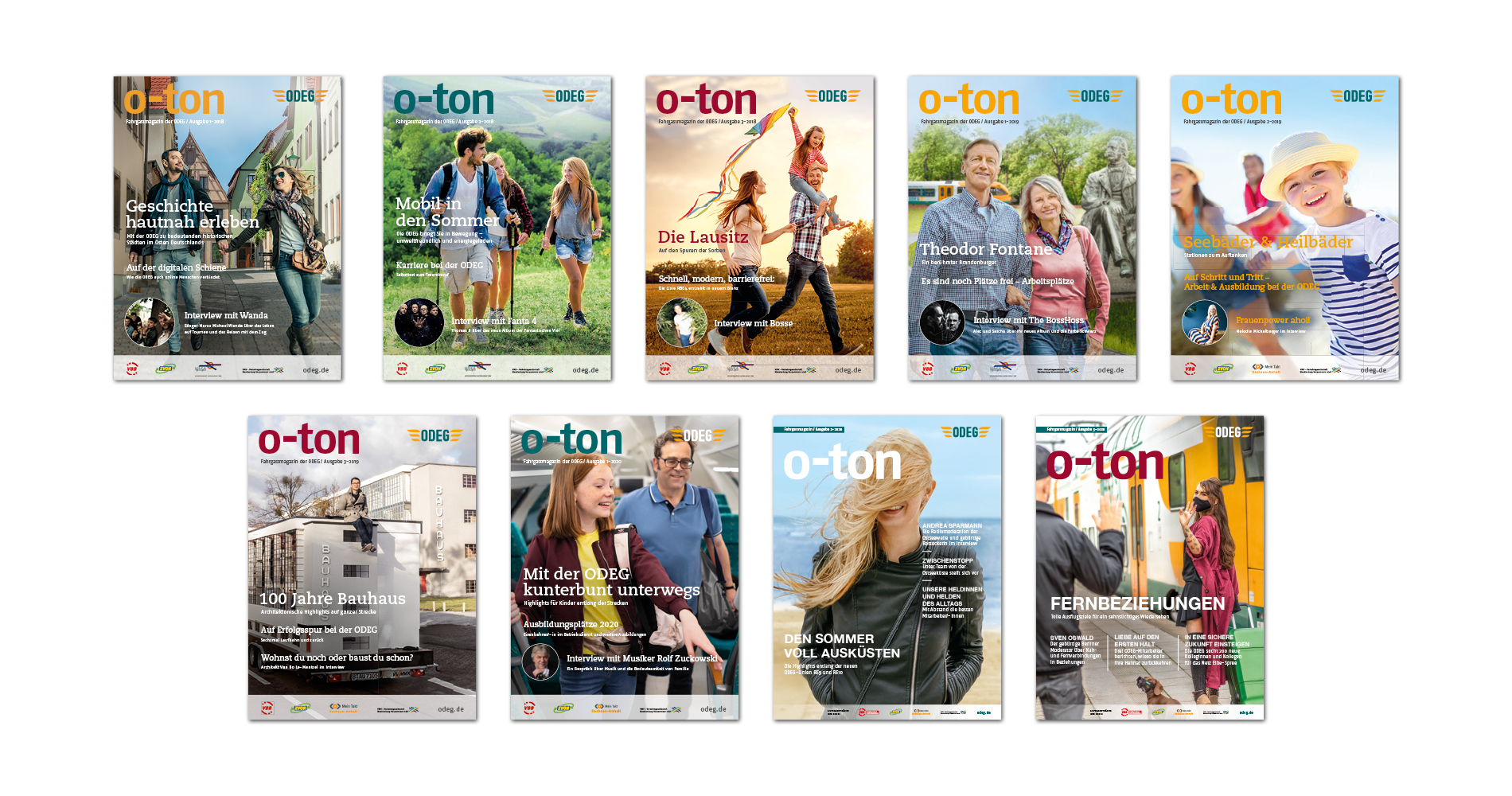 o-ton Ausgaben 2018–2020