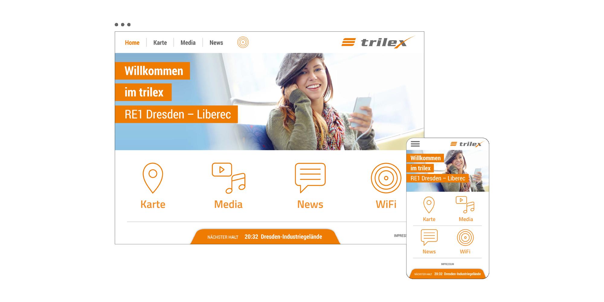 trilex Fahrgastportal / Startseite