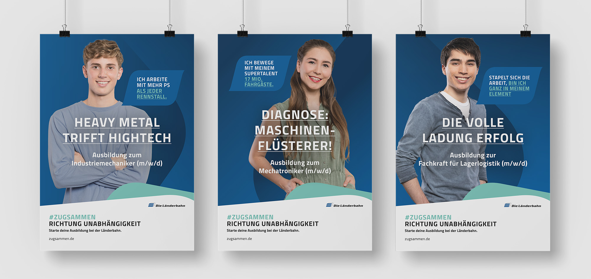 Länderbahn Recruiting / Plakate